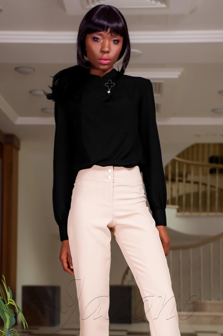 c731a652f4f Офисная женская черная блуза Vitton Jadone Fashion 42-48 размеры -  Интернет-магазин одежды