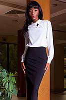 Офисная женская белая блуза Vitton Jadone Fashion 42-48 размеры