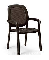 Кресло садовое Белосток коричневое, коричневый текстилен