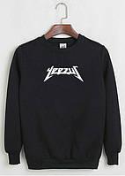 Свитшот Kanye West Yeezus черный с белым логотипом,унисекс (мужской,женский,детский)