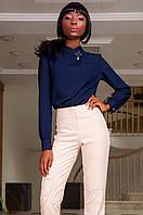 Офисная женская темно-синяя блуза Vitton Jadone Fashion 42-48 размеры