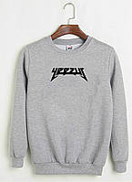 Свитшот Kanye West - Yeezus серый с черным логотипом,унисекс (мужской,женский,детский)