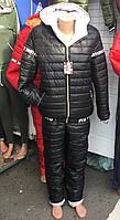 Лыжный женский костюм оптом 48-54 черный, фото 1