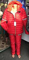 Лыжный женский костюм оптом 48-54 красный, фото 1