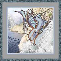"Дракон ""Властелин скалы». 28х28 см, фото 1"