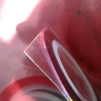 Лента самоклеящаяся для дизайна ногтей тонкая фуксия