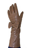 Сенсорные женские перчатки в коричневом цвете