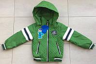 Детская куртка ветровка на мальчика 2,3,4,5,6 лет 92-116 см. Демисезонная. Зеленая
