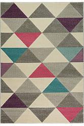 Рельефный ковер Soho, треугольники серый