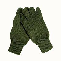 Зимние акриловые перчатки, olive. НОВЫЕ. ВС Бельгии, оригинал.