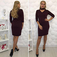 Женское платье с чекером бордо  , 48 , 50 , 52р ! , фото 1