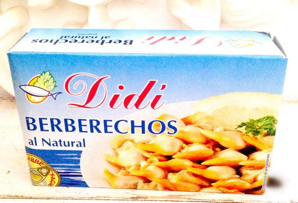 Ракушки BERBERECHOS Al natural (Без глютена)