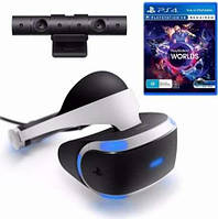 Sony Playstation VR+Sony PS4 Camera V2 (PS4)+VR Worlds (PS4)
