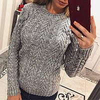 Женский прямой свитер с мохером в расцветках 330472