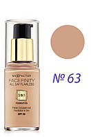 Max Factor - Тон.основа - Facefinity All Day Flawless 3in1 - №63  30 мл Оригинал