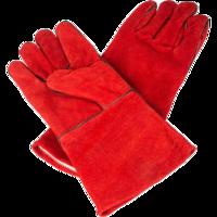 Краги замшевые с подкладкой красные