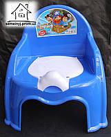 Горшок-стульчик детский с крышкой С040 (синий)