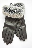 Высококачественные перчатки из кожи козы с мехом