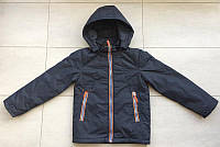 Детская куртка ветровка прямая на мальчика 9,10,11 лет 140-152 см. Демисезонная.