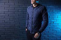 """Стильная мужская осенняя куртка победов Pobedov Jacket """" Progress """" navy"""