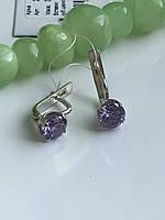 Серьги серебряные Арина фиолет светлый