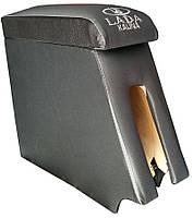Подлокотник Lada Kalina (Лада Калина) ВАЗ цвет серый с вышивкой