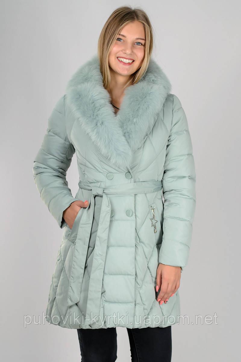 Женский зимний пуховик приталенный под пояс Zilanliya - Интернет-магазин