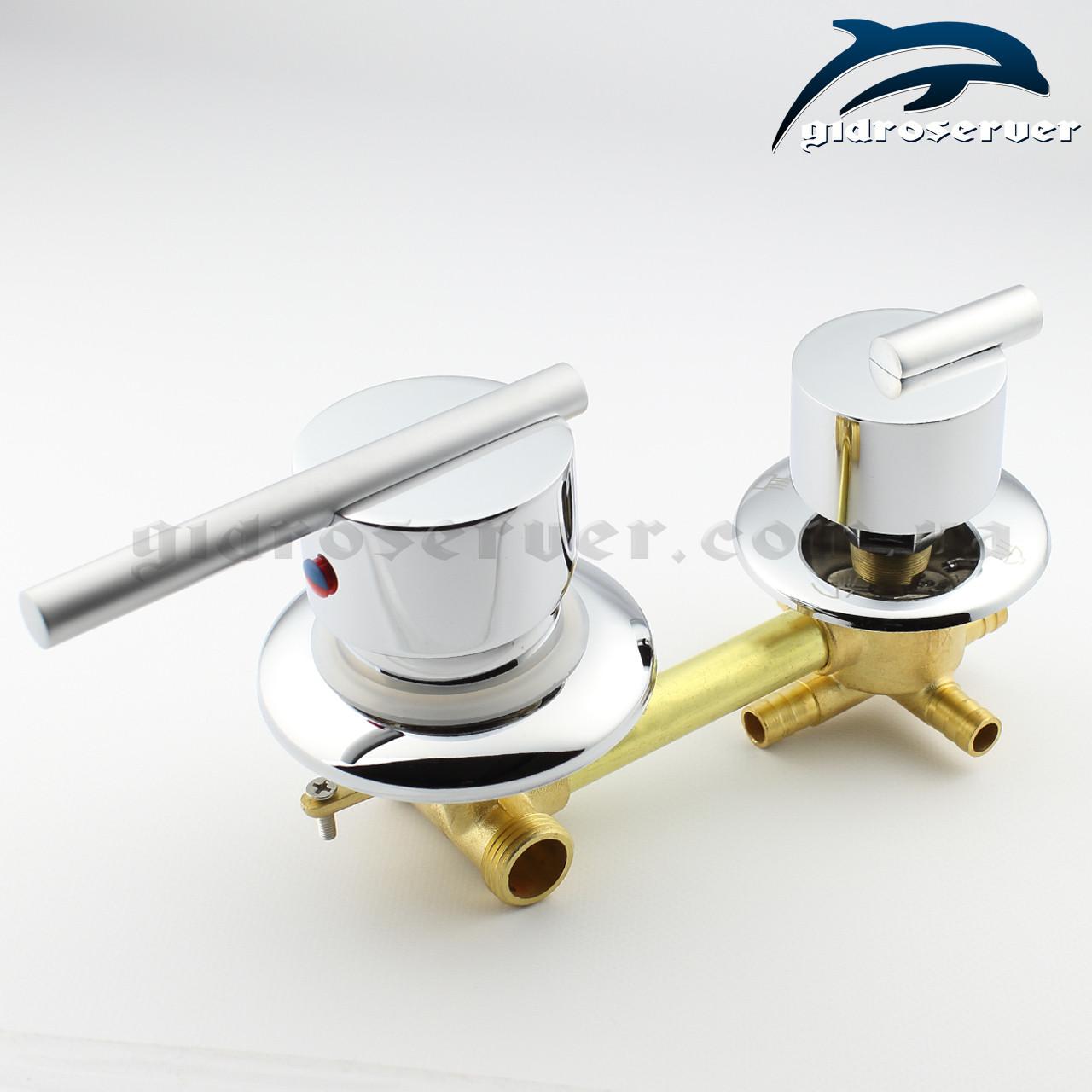 Смеситель для душевой кабины, гидромассажного бокса S 4 - 120 мм.