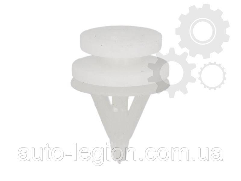 Клипса крепления обшивки (бело-белая)  на Renault Kangoo 1997->2008 Romix (Польша) ROM 11383