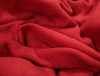 Ткань флис красный