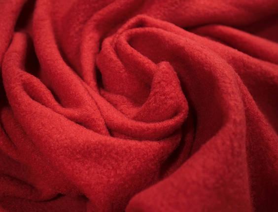 Ткань флис красный, фото 2