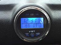 3 в 1 Авточасы, термометр, вольтметр VST 7042V для ВАЗ 2103, 2104, 2105, 2106, 2107