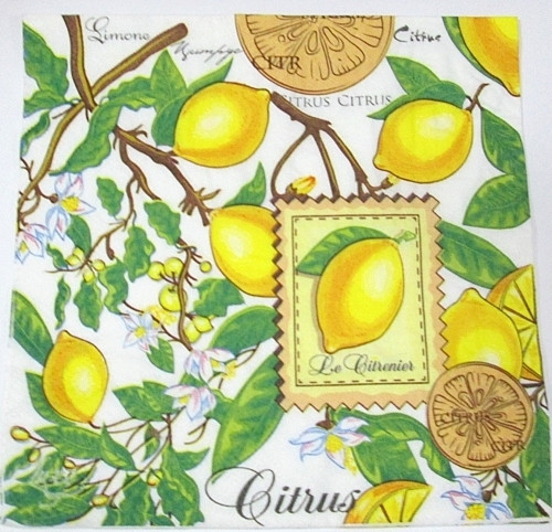 Салфетки для декупажа, Лимоны