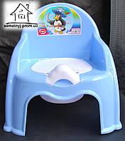 Горшок-стульчик детский с крышкой С041 (голубой)