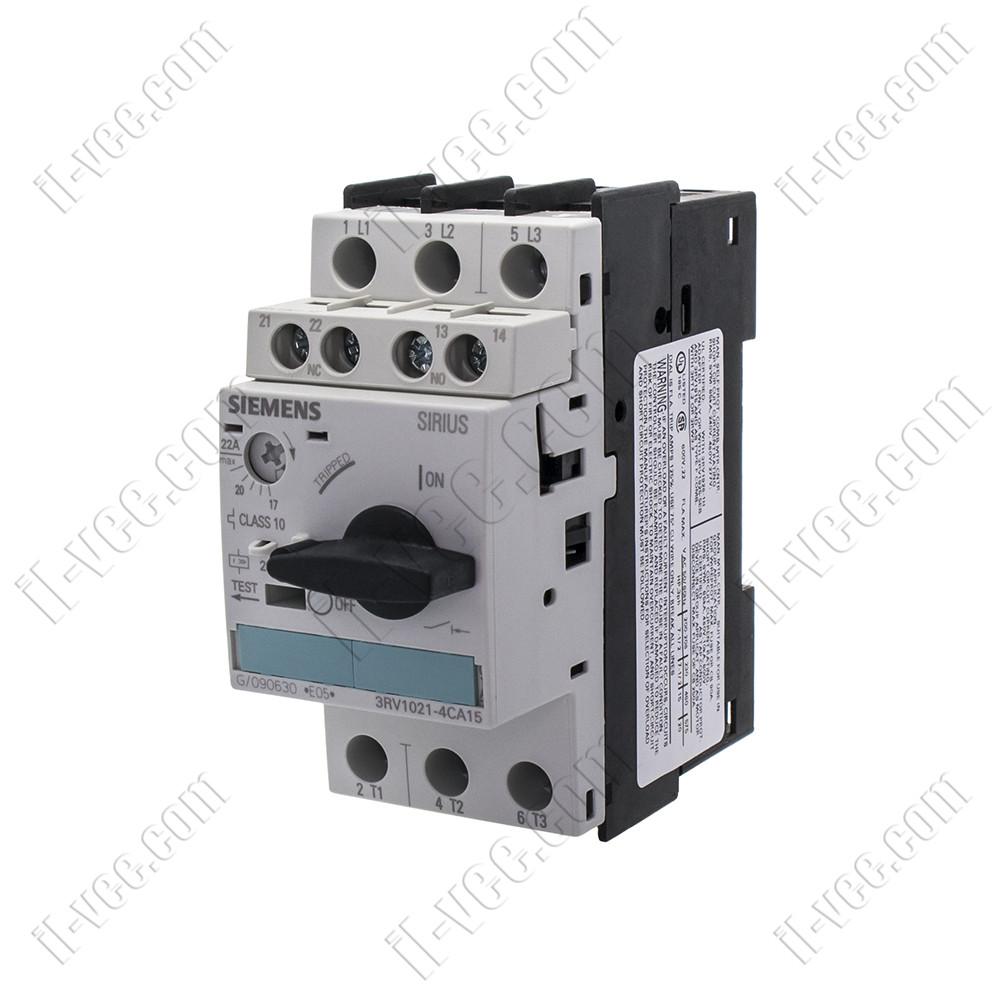 Автоматический выключатель защиты двигателя 3RV1021-4CA15 17-22A Siemens