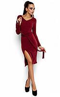 Осіннє коктейльне бордове плаття Laisan (S-M, M-L)