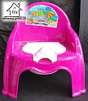 Горшок-стульчик детский с крышкой С042 (малиновый)