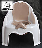 Горшок-стульчик детский с крышкой С043 (белый), фото 2