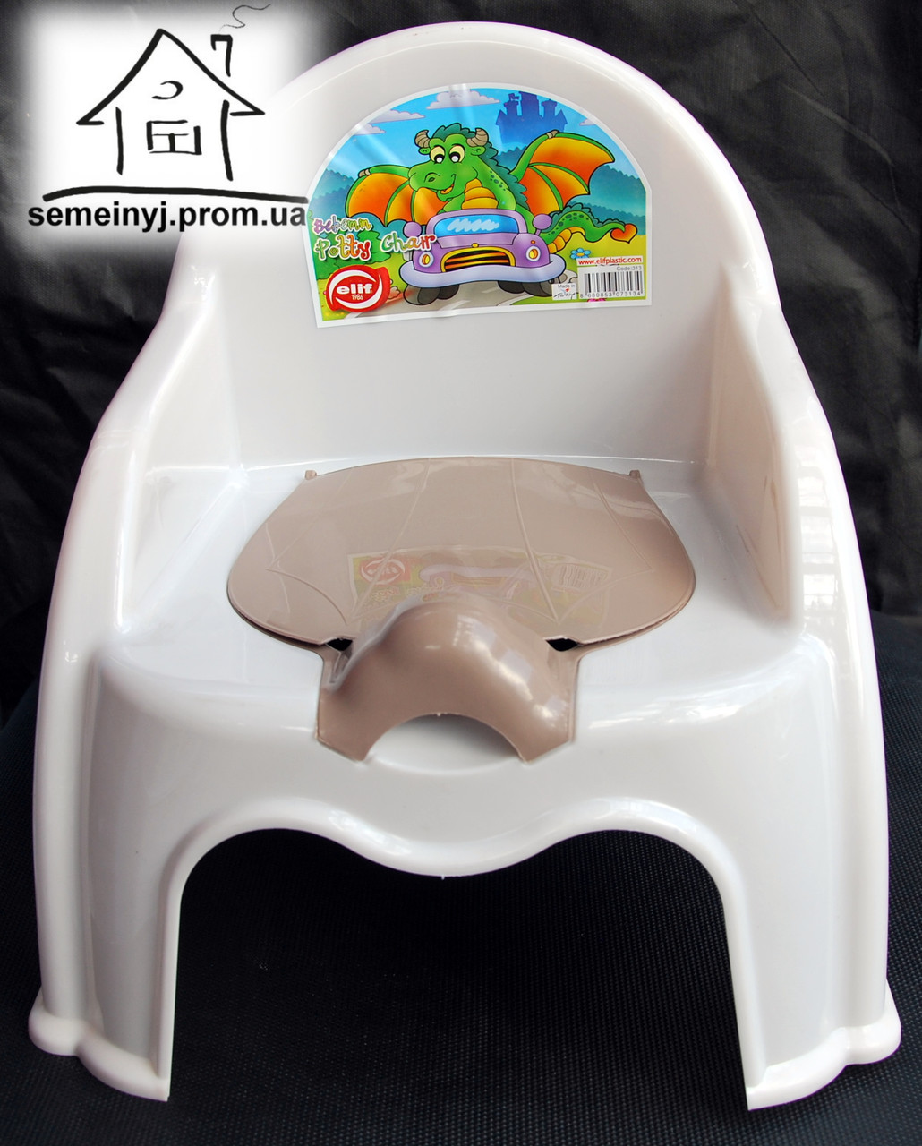 Горшок-стульчик детский с крышкой С043 (белый)