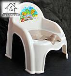 Горщик-стільчик дитячий з кришкою С043 (білий), фото 3