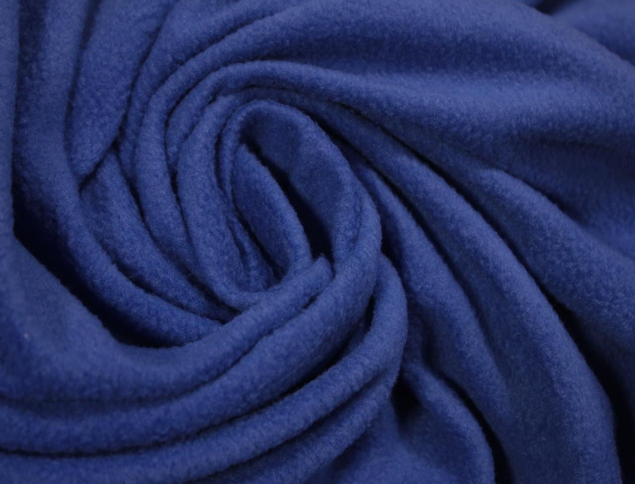 Ткань флис синий электрик