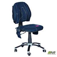 Кресло Джинс для детей без подлокотников ТМ AMF Синий 120010