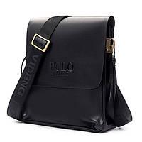 Мужская сумка Polo Videng средняя коричневая и черная, фото 1