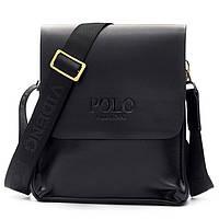 Мужская сумка Polo Videng большая коричневая и черная, фото 1