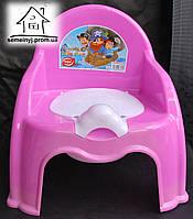 Горшок-стульчик детский с крышкой С044 (розовый)