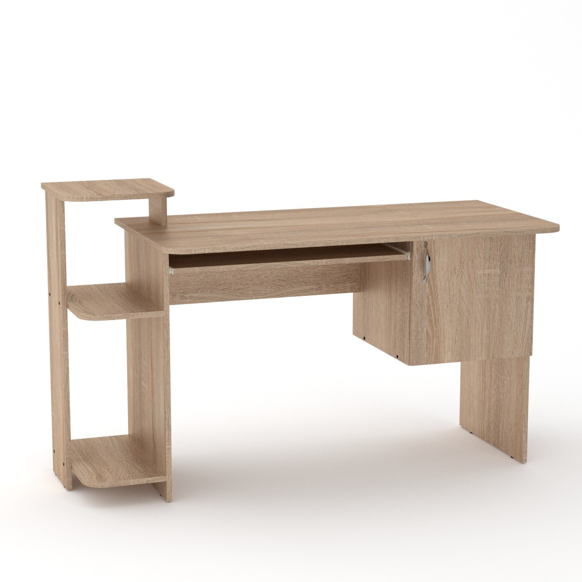 Стол компьютерный СКМ-3 дуб сонома Компанит (142х60х87 см)