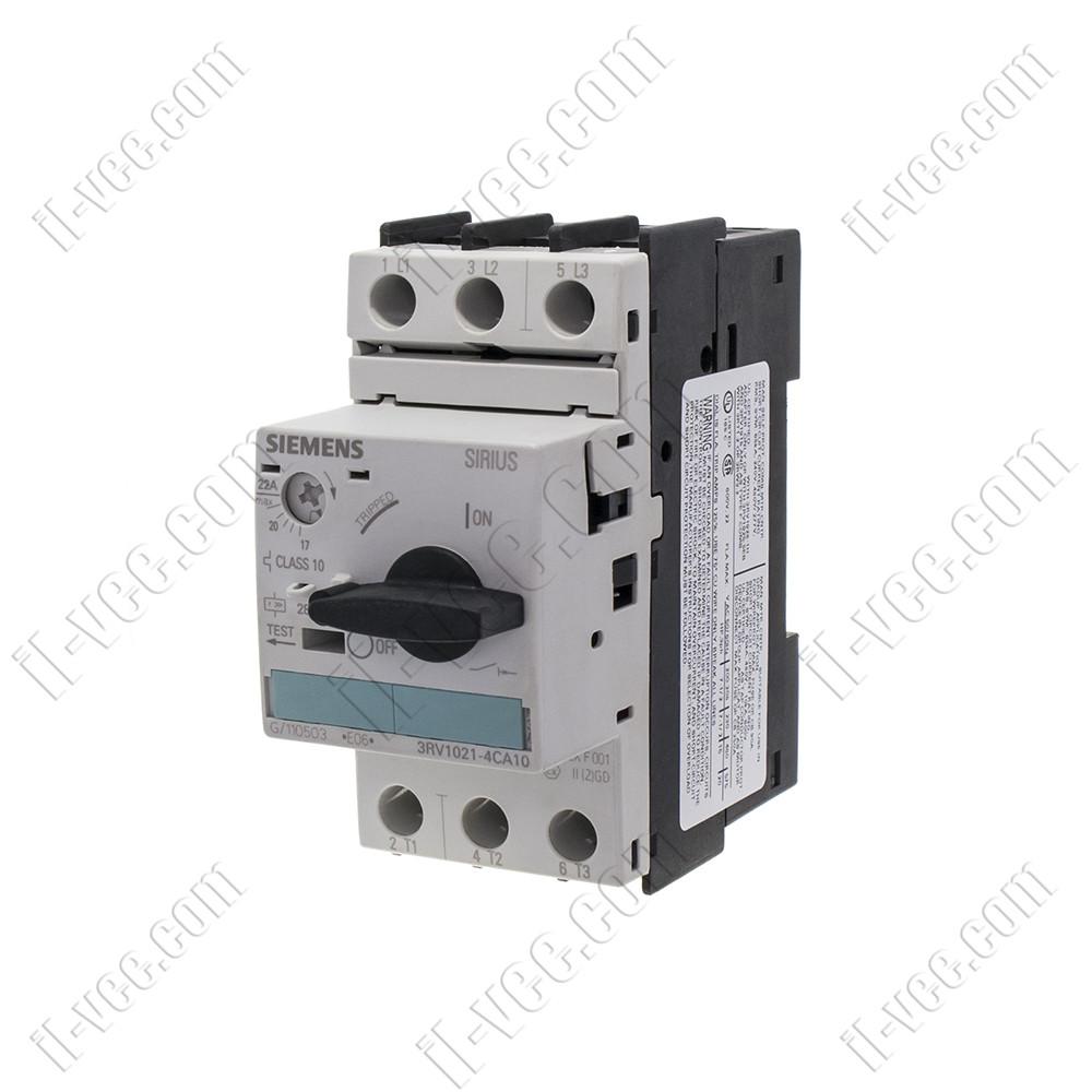 Автоматический выключатель защиты двигателя Siemens 3RV1021-4CA10 17-22A