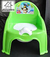 Горшок-стульчик детский с крышкой С045 (салатовый)