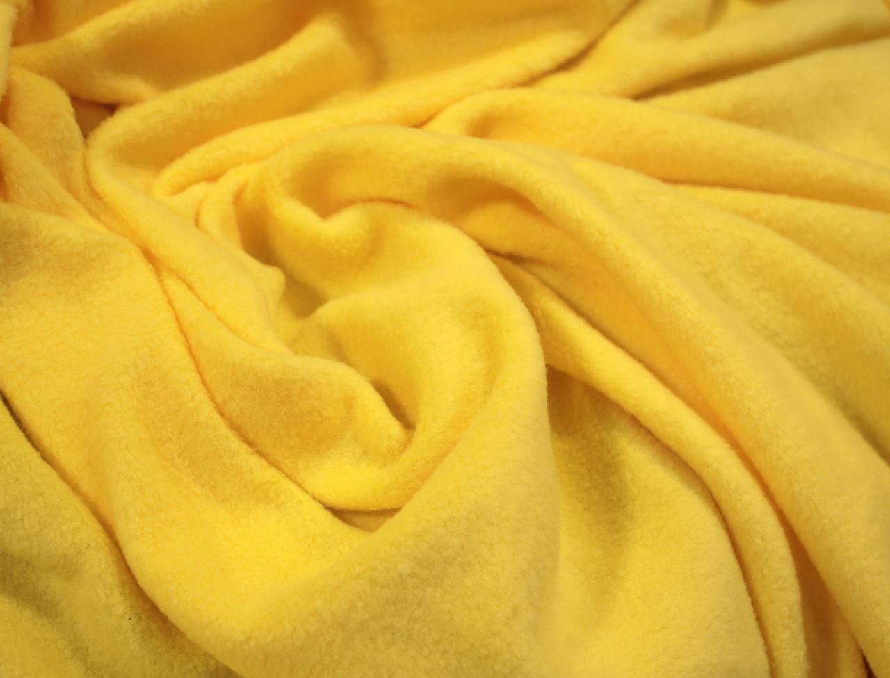 Ткань флис желтый