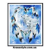 Алмазная вышивка Ловец снов с волками, фото 1